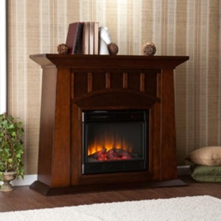 Southern Enterprises FE9668 Lowery Espresso Electric Fireplace