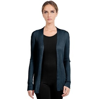 NE PEOPLE Womens Basic Long Sleeve Open Front Ribbed Knit Cardigan