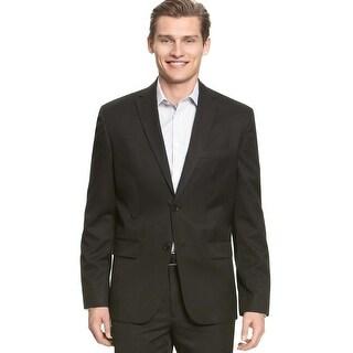 Calvin Klein Men's Jacket Solid 2 Button Blazer Black Size 2-Extra Large - 2Xl