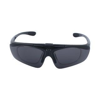 ROBESBON Authorized Unisex Outdoor Eyewear Removable Frame Cycling Glasses Black