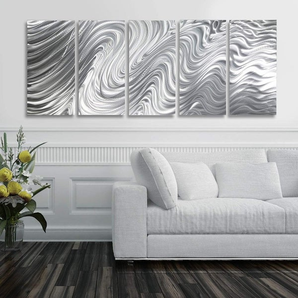 Statements2000 Silver Metal Wall Art Indoor/Outdoor Decor by Jon Allen - Hypnotic Sands