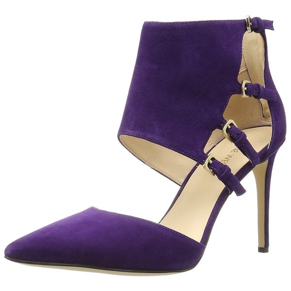 Nine West Womens Trust Me Pointed Toe Ankle Strap Classic Pumps