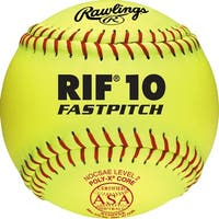 "Rawlings 12"" ASA Pro Tac RIF 10 Fastpitch Softball (Dozen) Optic Yellow 12"