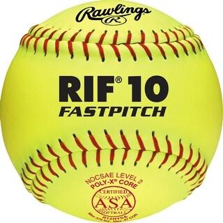 """Rawlings 12"""" ASA Pro Tac RIF 10 Fastpitch Softball (Dozen) Optic Yellow 12"""