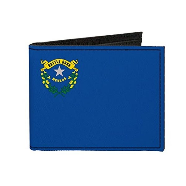Buckle-Down Canvas Bi-fold Wallet - Nevada Flag Accessory