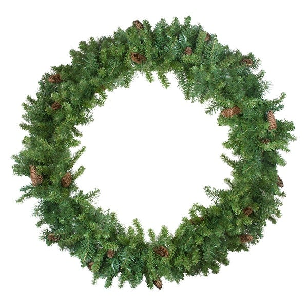 Shop Dakota Red Pine Artificial Christmas Wreath - 48-Inch ...