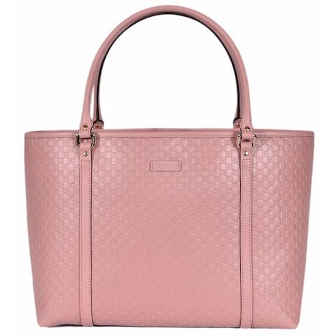 9f38a319e Gucci 449647 Soft Pink Leather Micro GG Guccissima Joy Purse Handbag Tote -  16