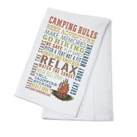 Great Smoky Mountains - Camping Rules - LP Artwork (100% Cotton Towel Absorbent)