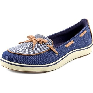 Grasshoppers Windham Women W Moc Toe Canvas Blue Boat Shoe