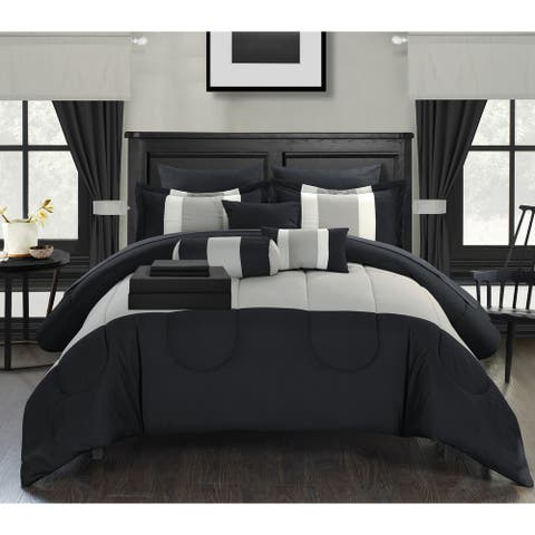Porch & Den Shurtleff Black 20-piece Bed-in-a-bag