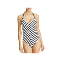 La Blanca Womens Tummy Control V Front One-Piece Swimsuit
