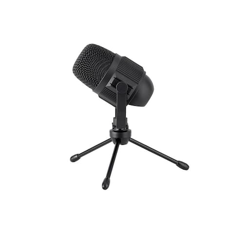 Monoprice USB Large Condenser Mic W/ Stand, Compatible With iOS, Android Devices