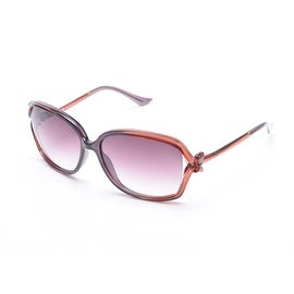 Moschino Women's Bow Detailed Oversized Sunglasses Brown - Small