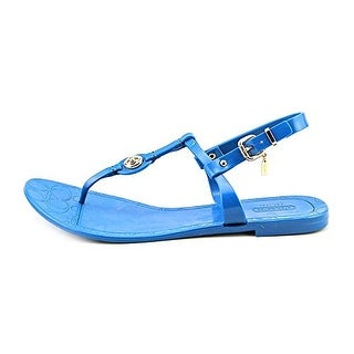 Coach Pier Shiny Jelly Open Toe Synthetic Thong Sandal
