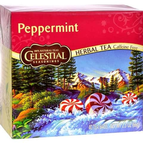 Celestial Seasonings - Caffeine Free Peppermint Herbal Tea ( 6 - 40 BAG)