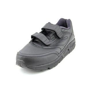 Brooks Addiction Walker V-Strap Women 2E Round Toe Leather Black Walking Shoe