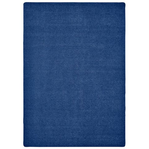 Carpets For Kids KIDply Soft Solids - 6' x 9' Rectangle - Midnight Blue