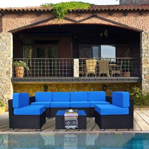 Mcombo Patio Furniture Sectional Set Outdoor Wicker Sofa 6082-1007