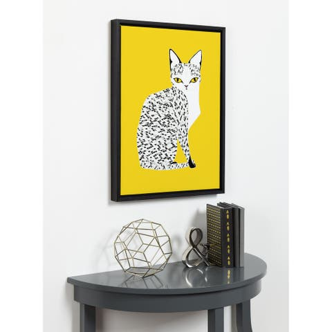 DesignOvation Sylvie Egyptian Mau Cat Canvas by Stacie Bloomfield
