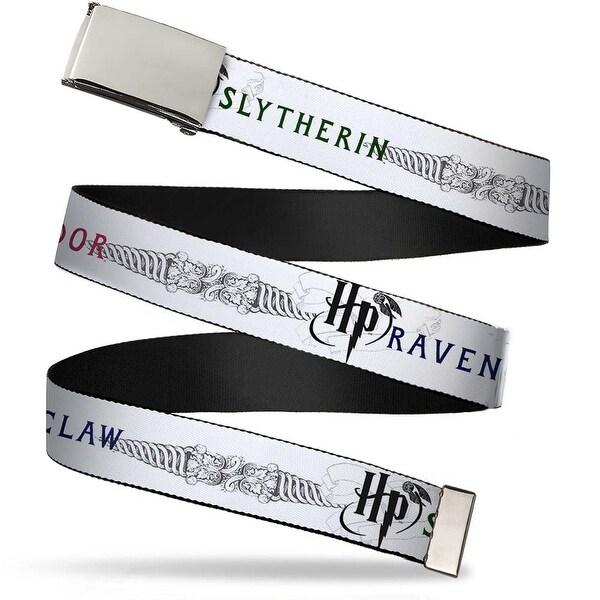 Blank Chrome Bo Buckle Harry Potter Gryffindor Ravenclaw Slytherin Web Belt