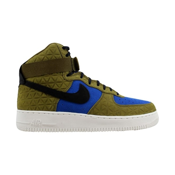 online store 4f197 a15ae Nike Air Force 1 Hi Premium Suede Olive Flak Black-Midnight Turquoise  Women