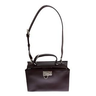 Dolce & Gabbana Bordeaux MONICA Leather Hand Shoulder Satchel Bag