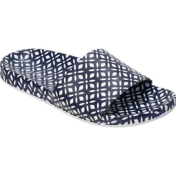 1ac7d10454d3 ... Women s Sandals. Dearfoams Women  x27 s Printed Molded Footbed Slide  Peacoat PU