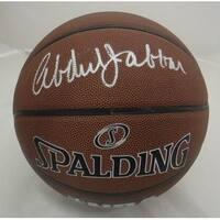 Kareem AbdulJabbar Autographed Los Angeles Lakers IO Basketball PSADNA