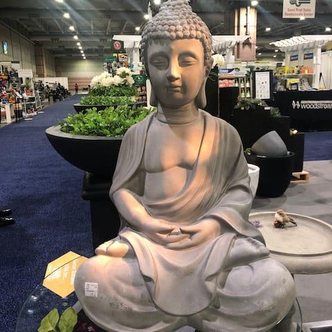 25.6 in. H Lightweight Concrete Sitting Meditating Buddha Statues