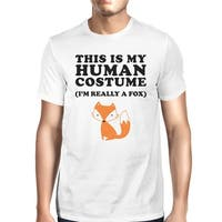 This Is My Human Costume Tshirt Mens White Funny Graphic T-Shirt