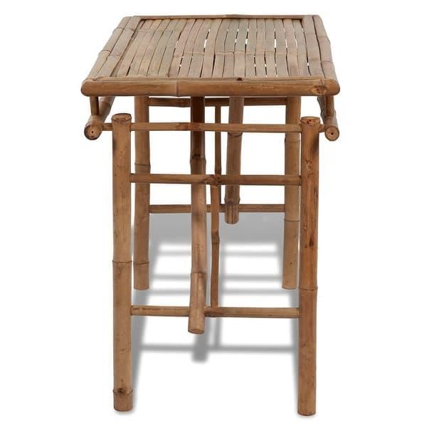 Stupendous Shop Vidaxl Folding Outdoor Table Bamboo 47 2 Garden Patio Customarchery Wood Chair Design Ideas Customarcherynet