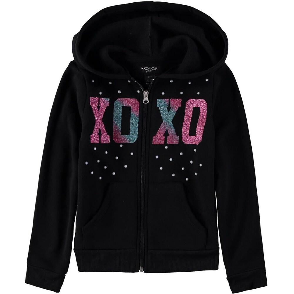 XOXO Girls Toddler Fleece Logo Hoodie