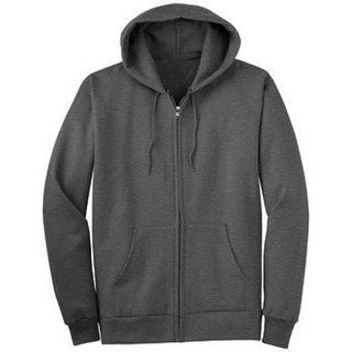 New Port Blank Zip- Up Hoodies (Comes In 5 Different Colors),XL Charcoal - xL