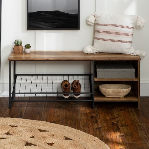 Carbon Loft 48-inch Entry Bench with Shoe Storage