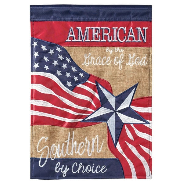 "Red and Blue Patriotic Rectangular Garden Flag 18"" x 13"" - N/A"