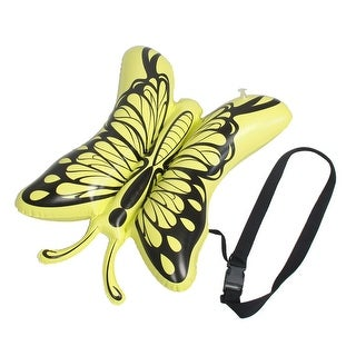 Unique Bargains Butterfly Design Water Sports Swimming Inflatable Floating Bag Yellow Black