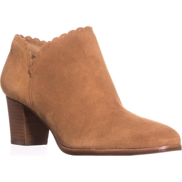 Jack Rogers Marianne Scalloped Low Rise Booties, Oak - 8 us