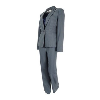 Le Suit Women's 3PC Granada Shadow-Striped Pant Suit - stone/midnight