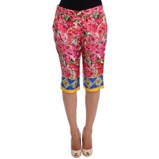 Dolce & Gabbana Dolce & Gabbana Multicolor Floral Knee Capris Shorts Pants