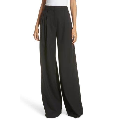 A.L.C. Womens Pants Black Size 12 Wide Leg High Rise Anderson Stretch
