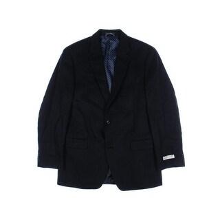 MICHAEL Michael Kors Mens Herringbone Long Sleeves Two-Button Blazer - 42L