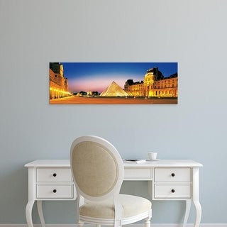 Easy Art Prints Panoramic Images's 'Louvre Paris France' Premium Canvas Art