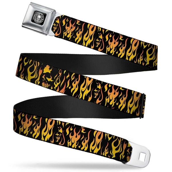 Stone Cold Steve Austin Skull Icon Weathered Full Color Black White Stone Seatbelt Belt