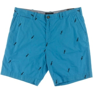 Tommy Hilfiger Mens Embroidered Custom Fit Shorts - 40