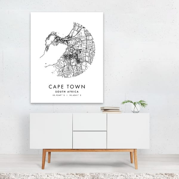Cape Town South Africa Black And White Unframed Wall Art Print Poster Overstock 31657170
