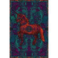 Handmade 100% Cotton 3D Unicorn Tapestry Tablecloth Beach Sheet Spread 60x90