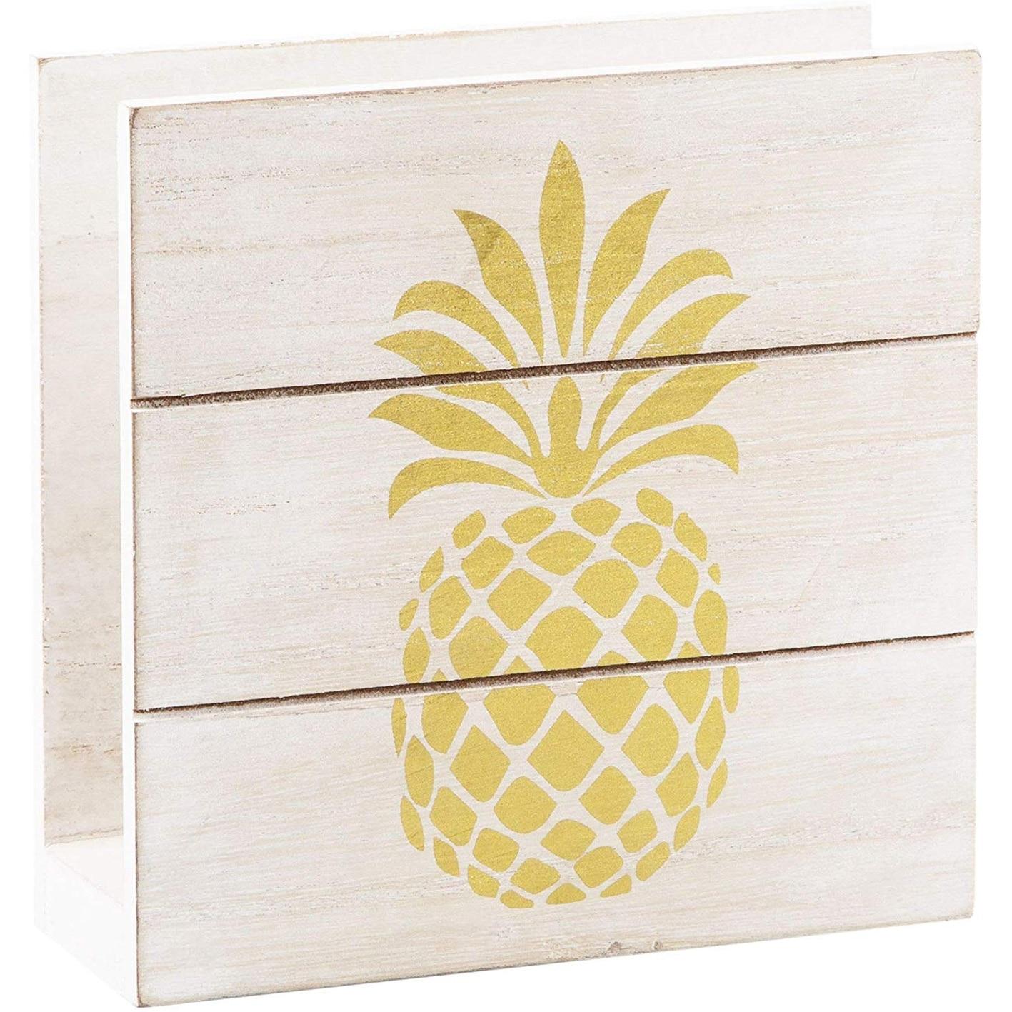 Modern Farmhouse Wood Napkin Holder Freestanding Tissue Dispenser For Kitchen Countertops Overstock 30136256