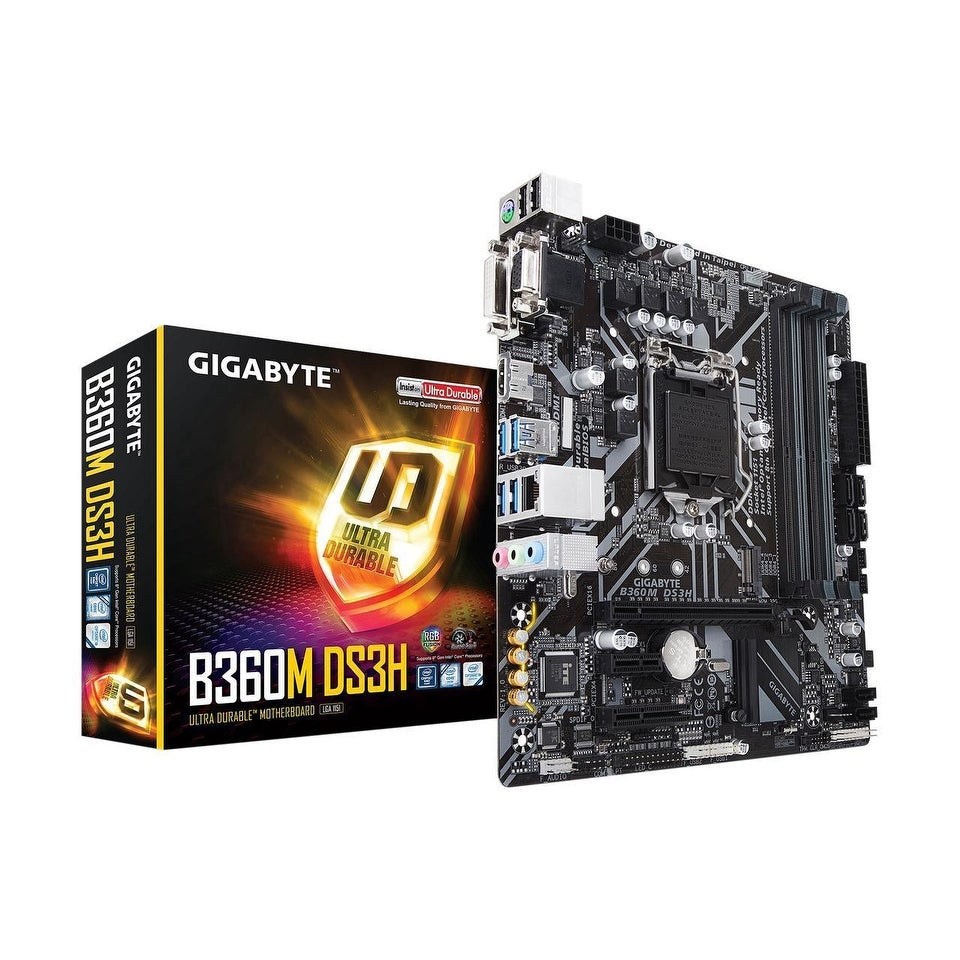 GIGABYTE B360M DS3H LGA 1151 (300 Series) Intel B360 HDMI SATA 6Gb/s USB 3.1 Micro ATX Intel Motherboard