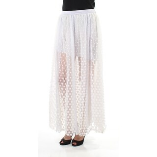 Womens Light Gray Polka Dot Full-Length A-Line Skirt Size 8