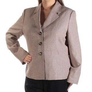 LE SUIT Womens New 1105 Brown Blazer Wear To Work Jacket 18 B+B